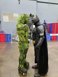 batman vs swampthing by metal-otaku