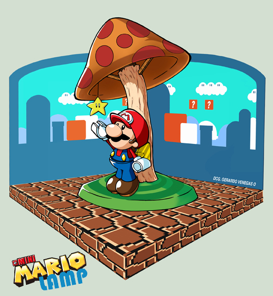 Mini Mario - Lamp by Gerry-Lee