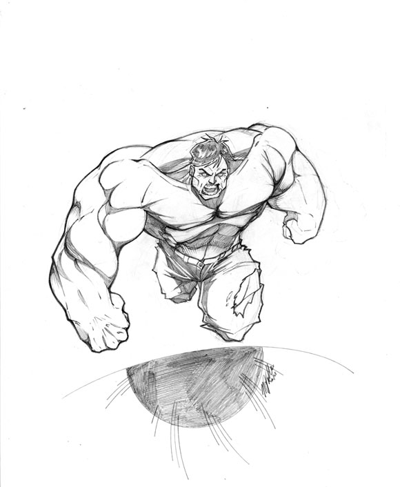 M J Sketch Images Hulk Sketch by MJValle...