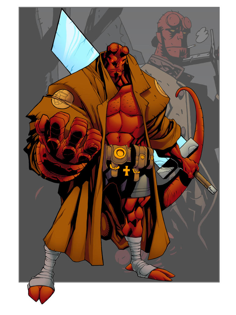 Hellboy Colored by MJValle