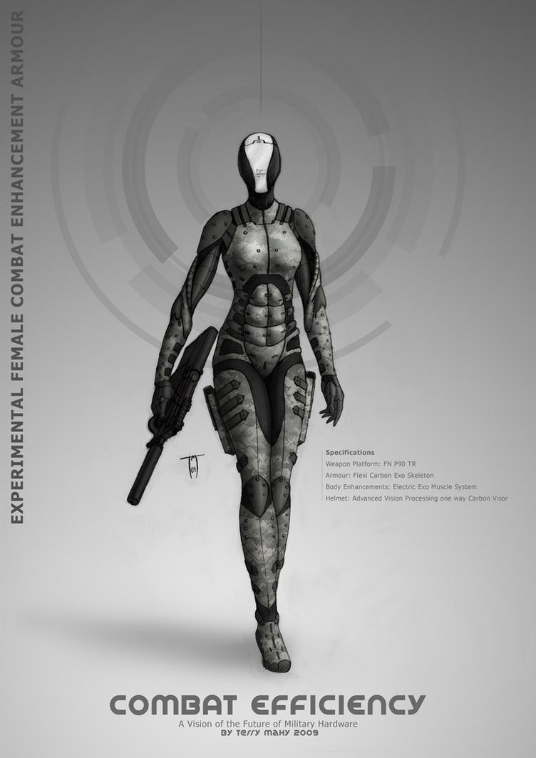 Female combat Armour by Terraldo