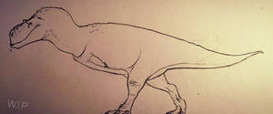 Dinovember #3 - WIP cartoony Majungasaurus