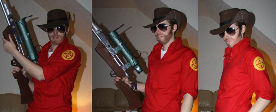 TF2 Sniper Cosplay W.I.P :: Meet The Shirt by DrunkenFangschrecke