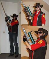 TF2 :: Meet The Sniper Cosplay (incomplete) by DrunkenFangschrecke
