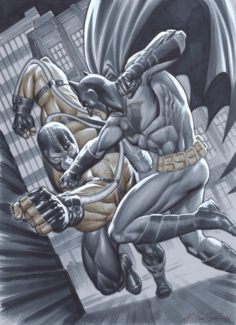 Batman vs Bane by mrno74