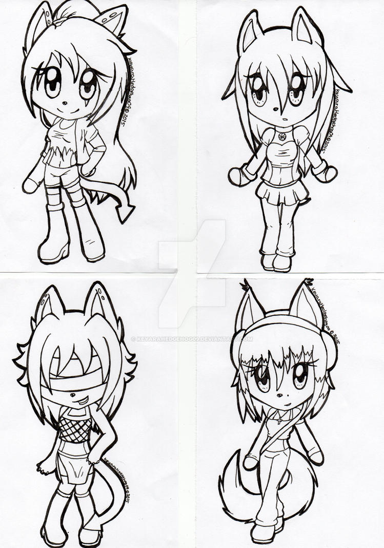 Chibi Galore batch 3 by KeyaraHedgehog09