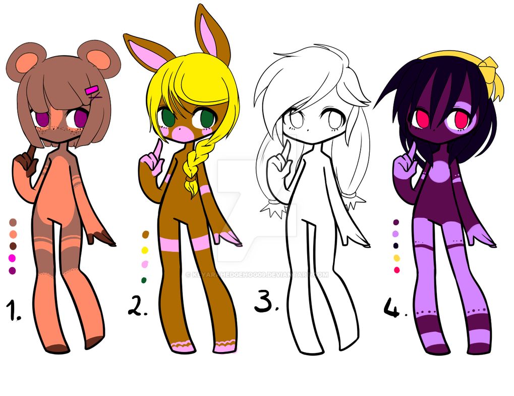 Adopt batch 02 (4) OPEN REDUCED by KeyaraHedgehog09
