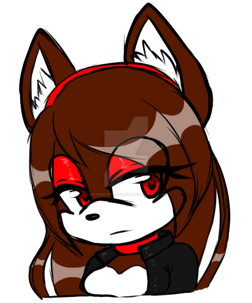 Coloured Sketchy bust Scarlet  by KeyaraHedgehog09