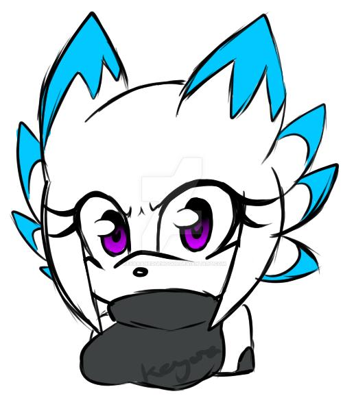 Coloured Sketchy bust fubukingtenjoin by KeyaraHedgehog09