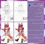 Keyara's commission sheet by KeyaraHedgehog09