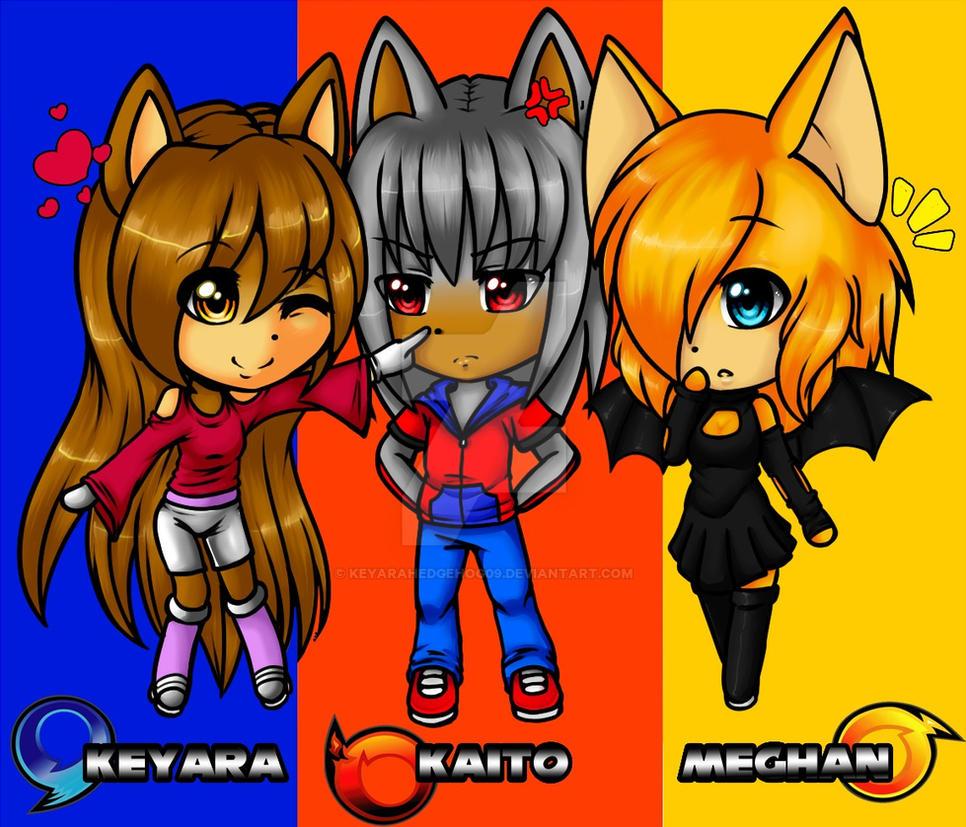 Redraw: Chibi team by KeyaraHedgehog09