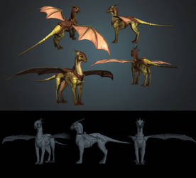 riding dragon by Abuze