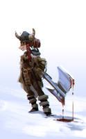 female viking by Abuze