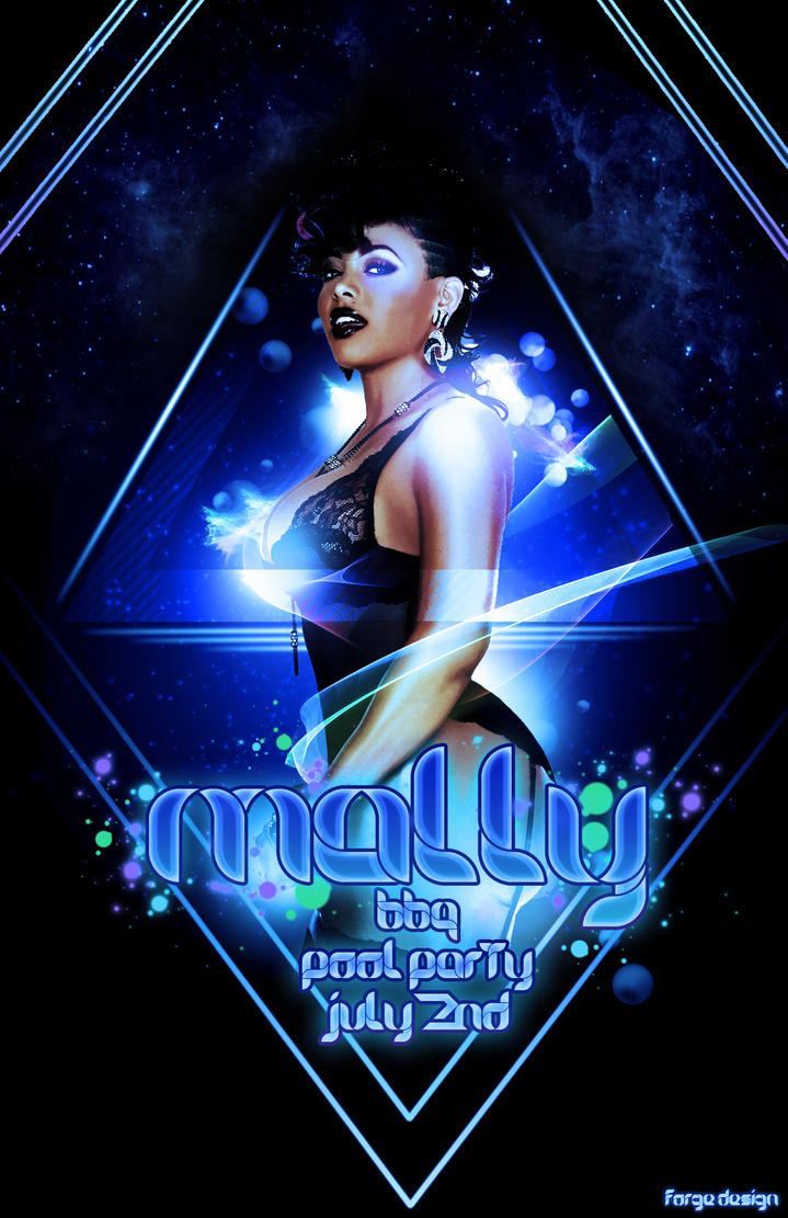 Mally pool party by forgedesign on deviantart for Club piscine flyer