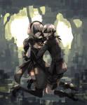 NieR:Automata 9Sx2B Fan Art