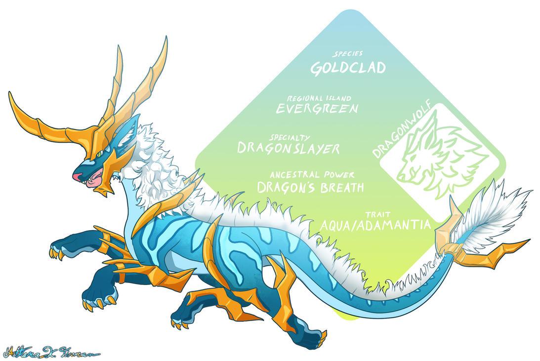 Dragonwolf Goldclad by Athena-Tivnan