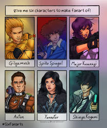 SixFan Characters, pick some for me