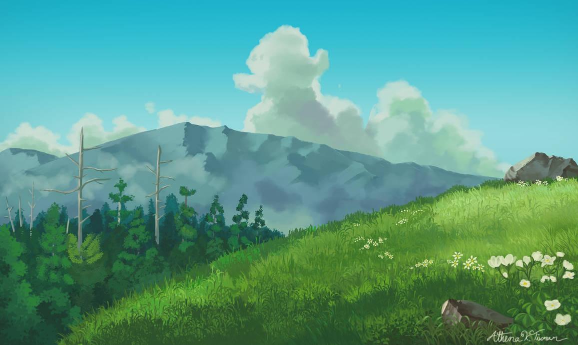 Studio Ghibli: Landscape Practice 2