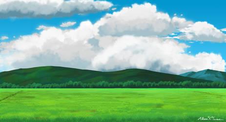 Studio Ghibli: Landscape Practice 3