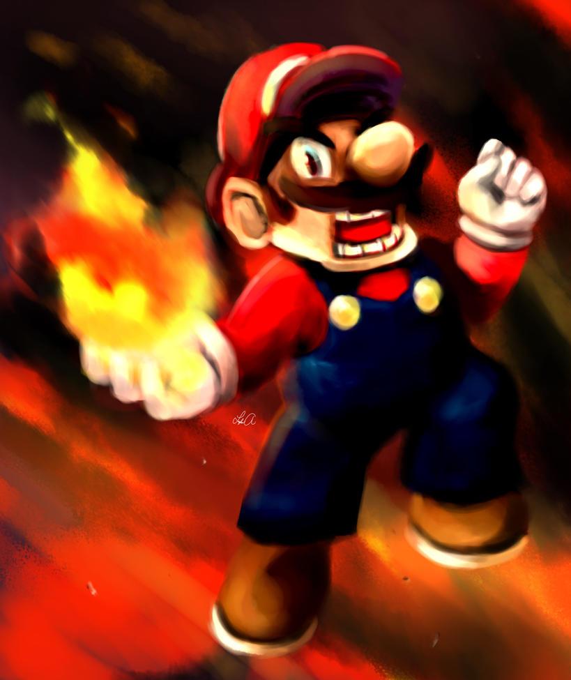 Angry Mario by ukalayla