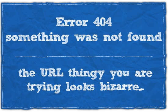 404 error page by Uncleserb