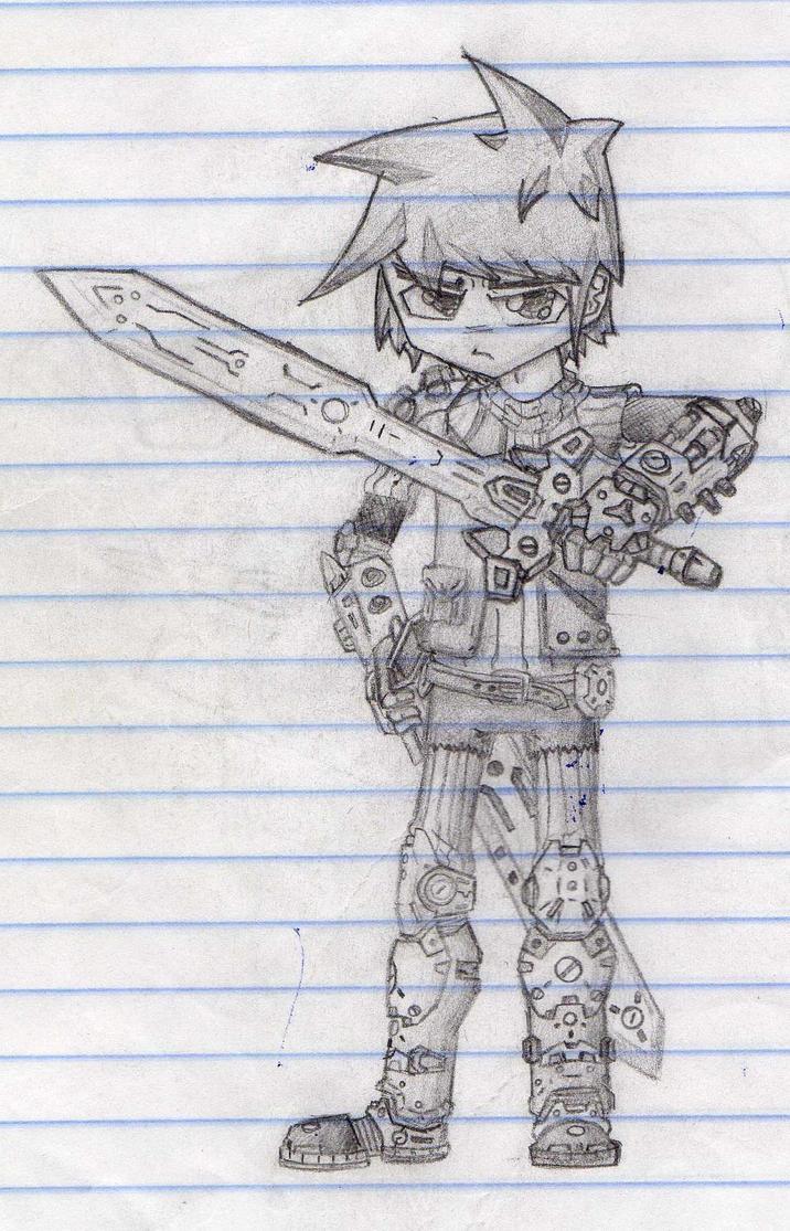 Anime warrior Mecha-Steampunk by Mr-Laggy-Boy on DeviantArt
