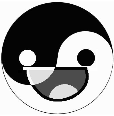 Yin Yang Happy Face by TigerJ15