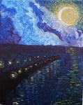 Moon over Dock