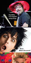 Green Day Tre Cool no drugs