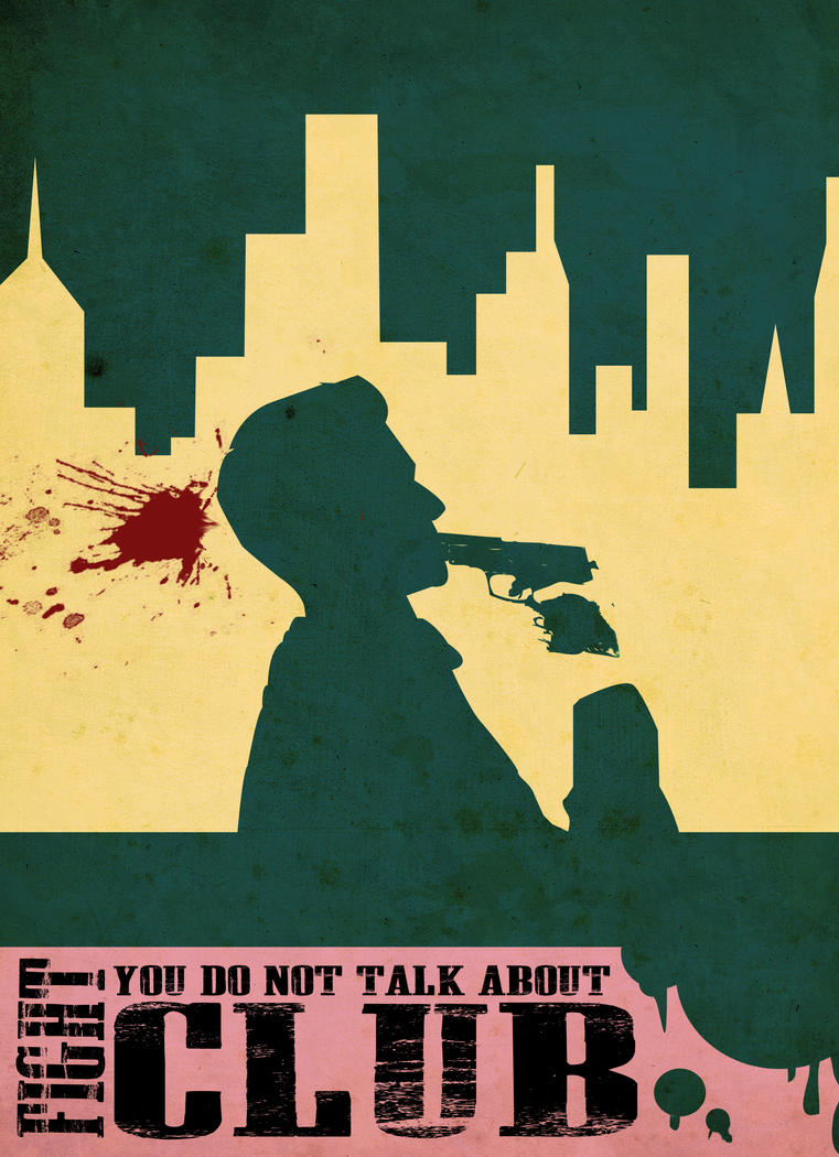 fight club vector poster by builttofail on deviantart