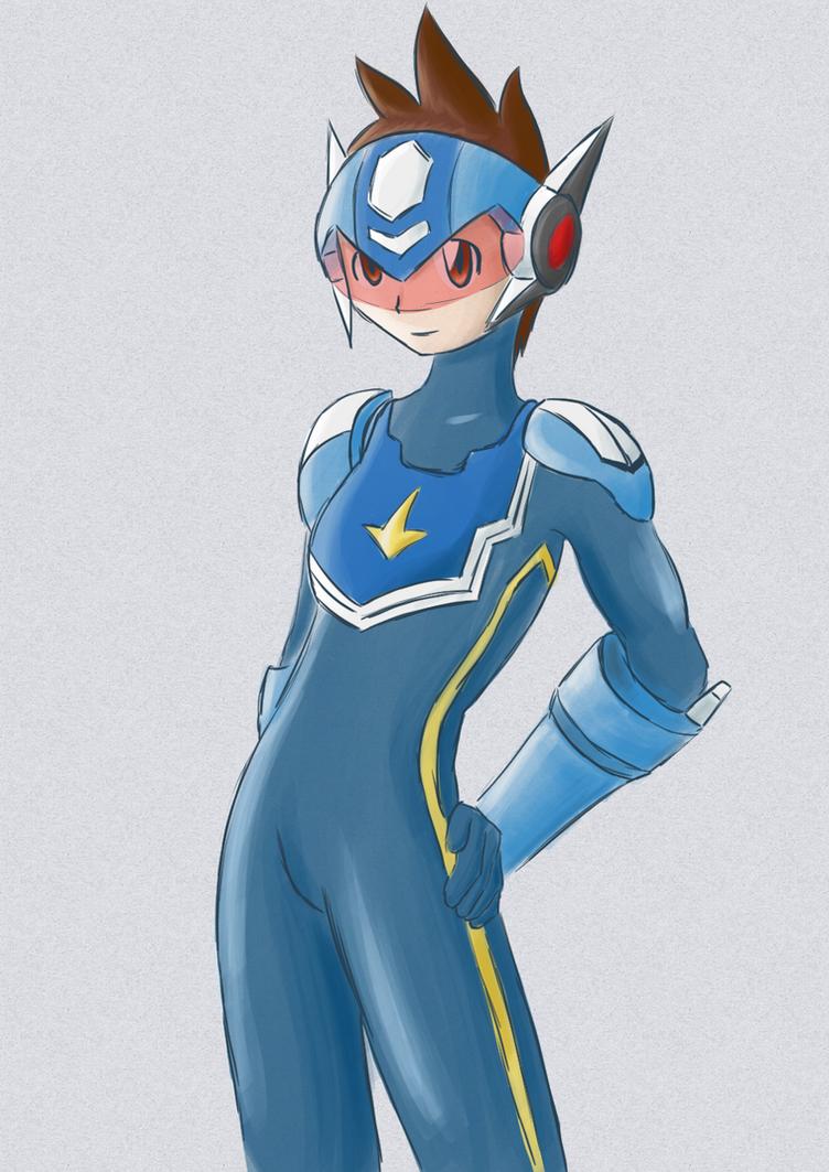 Subaru Megaman Starforce Genderbender by CrimsonFoxglove