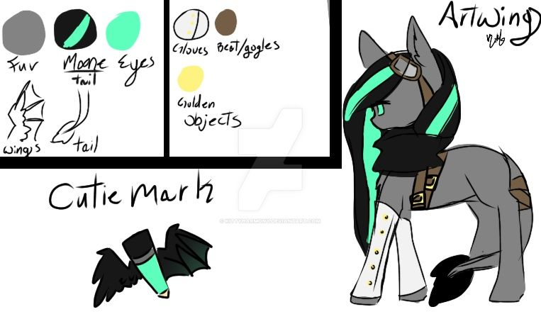 ArtWing reference updated by KittyHarmony