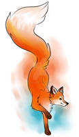 Water Colour Fox Tattoo