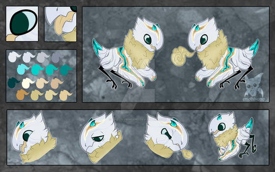 Marbled Geode JR Reference Sheet -  1/3 Extra Art