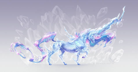 Crystal Unicorn by Firequill