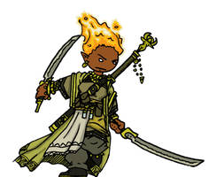 Genasi Ranger by WhoDrewThis