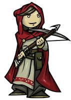 Myrah, Halfling Sorcerer Lady by WhoDrewThis