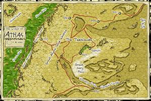 Dark Sun- Athas Map by WhoDrewThis