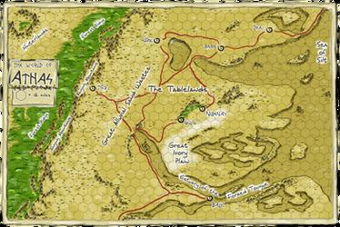 Dark Sun- Athas Map