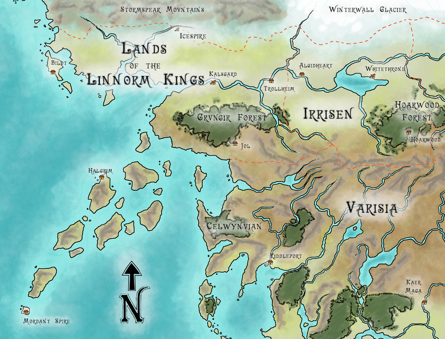 Map- Golarion- Up Northwest by WhoDrewThis