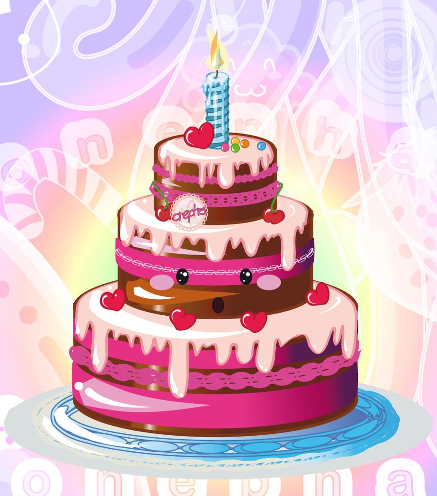 Birthday Cake Illustrator