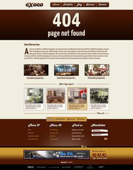 cXoco Psd WebSite Template Free For Commersial Use