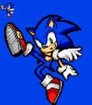 Sonic SSBU Pose - Sonic Advance Pixel Art