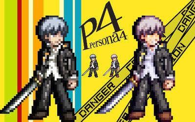 Yu Narukami Sprite - Persona 4