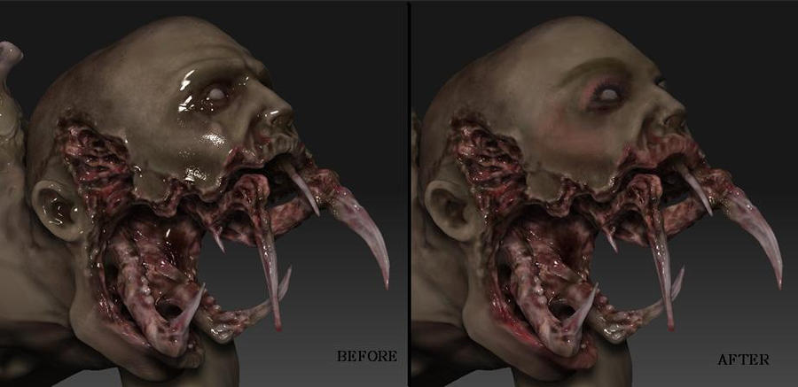 beforeafter a necromorph transformation by miss