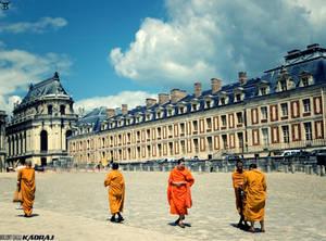 Monks in the Garden Of Versailles