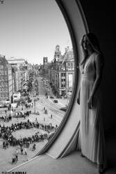 Standing In Front of a Window in Amsterdam