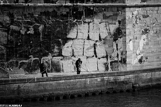 Fishing on Seine