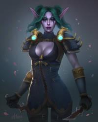 Night elf Kaisha [C] by Alinery