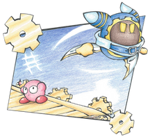 Gourmet Race, but with no food and added Magolor! by kirbykawaii2105